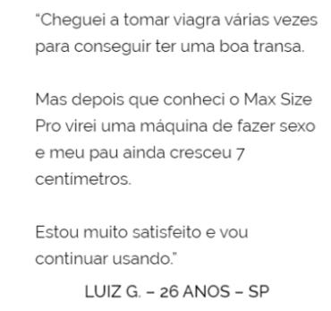 max size pro depoimento 1